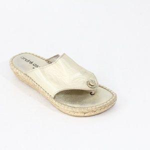 Andre Assous Wedge Sandal Espadrille Slide Shoe
